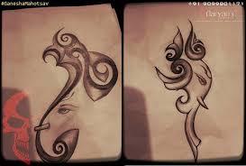 best ganesha tattoos by aaryan aaryan s and piercing