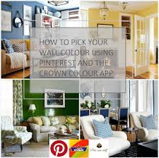 use the crown colour app and pinterest to pick wall paint pine how