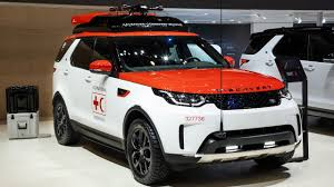 range rover modified red geneva motor show 2017 land rover displays discovery project hero