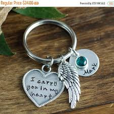 remembrance keychain memorial keychain i carry you in my heart keychain remembrance