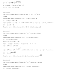 conic sections class 11 mathematics ncert solutions