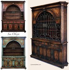 Mediterranean Dining Room Furniture by Old World Tuscan Furniture Obispo Dining Room Hutch At Accents