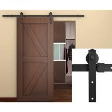 6 6ft classic antique steel sliding hardware barn rustic wood door