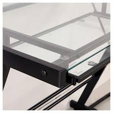 Black Glass L Shaped Computer Desk Home Office 51