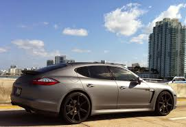 porsche panamera dark blue matte gray porsche panamera exotic cars on the streets of miami