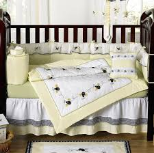 Black And Yellow Crib Bedding Yellow Black And White Bumble Bee 9 Crib Set Baby Rooms