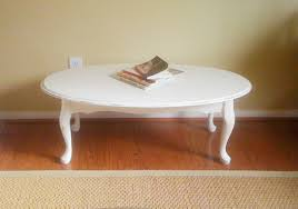 white oval coffee table tables modern thippo
