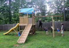 Backyard Play Area Ideas by 34 Free Diy Swing Set Plans For Your Kids U0027 Fun Backyard Play Area