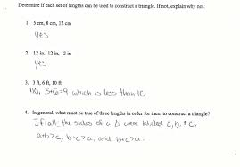 sides of triangles students are asked to determine if given