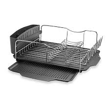 Bed Bath And Beyond Heaters Dish Racks U0026 Drainers Stainless Steel Dish Racks Bed Bath U0026 Beyond