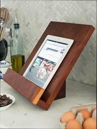 porte livre de cuisine cuisine bois support livre de cuisine en bois