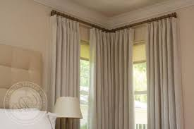 Curtains Corner Windows Ideas Window Curtains Ideas Of Interesting Curtain Rod For Corner