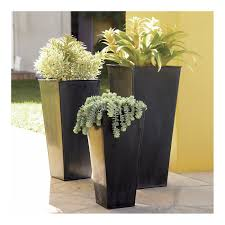 ideas black modern planters on tile flooring for modern indoor