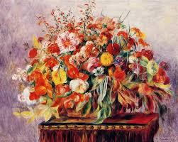 basket of flowers basket of flowers 1890 auguste renoir wikiart org