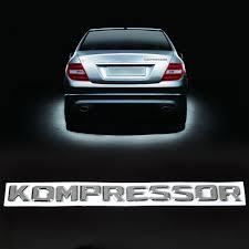 dwcx new car 3d chrome kompressor car rear emblem stickers for