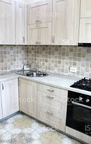 kitchen cabinet interior design ideas grey kitchen cabinets interior design stock photo image now