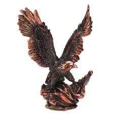 Home Decor Figurines Amazon Com Gifts U0026 Decor Majestic Eagle In Flight Bird Statue