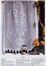 Crochet Lace Curtain Pattern 157 Best Filet Crochet Valances Images On Pinterest Crochet