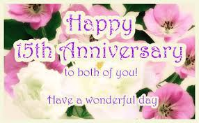 anniversary ecard floral 15th wedding anniversary ecard greetingshare