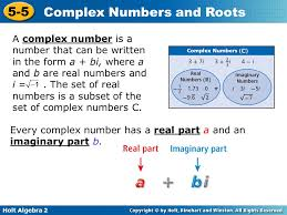 objectives define and use imaginary and complex numbers ppt