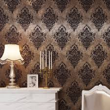 haokhome vintage damask wallpaper rolls bronze brown french wall
