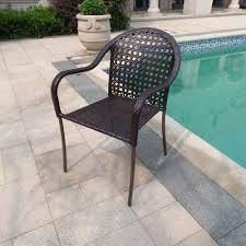 Unique Patio Creations Backyard Creations Monrovia Bistro Patio Chair At Menards