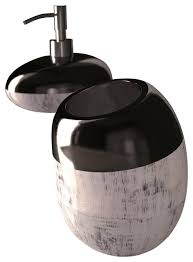 Silver Bathroom Accessories Sets by Glamour Bathroom Accessory Set Black Silver Modern Bathroom