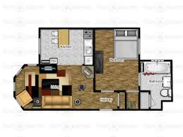 28 300 square feet cottage style house plan 2 beds 1 baths