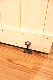 Interior Doors At Home Depot by Barn Door A Floor Guide From Home Depot Keeps The Bottom Of The
