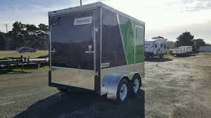 enclosed trailer 6 u0027x10 u0027 black lime green chrome tandem axle