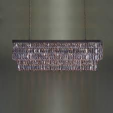 Rectangular Chandelier Bronze Mirrored Crystal Rectangular Chandelier Tigermoth Lighting