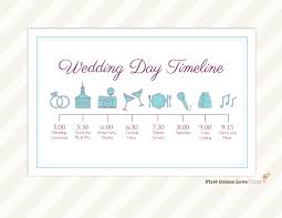 wedding itinerary template for guests wedding day timeline card itinerary for guests big day