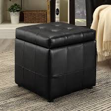 Large Square Storage Ottoman Black Square Storage Ottoman Safavieh Bobbi Black Storage Ottoman
