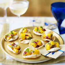 indian canapes ideas poppadom scoops housekeeping