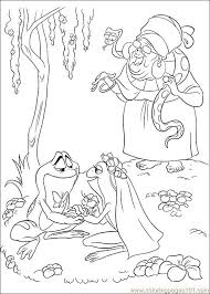 Princess Frog 58 Coloring Page Free The Princess And The Frog Princess And The Frog Colouring Pages