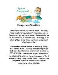 ecosystems stem earth science internet worksheets w answer key