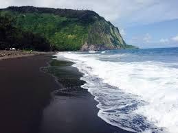 black sand beach hawaii waipio valley lookout kukuihaele big island hawaii black sand