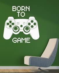 vinyl decal quote video game computer joystick gaming teen boys