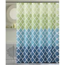 Aqua Blue Shower Curtains Modern Geometric Shower Curtains Allmodern