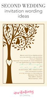 wedding invitation wording in second wedding invitation wording invitations by