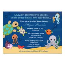 ocean theme invitations u0026 announcements zazzle