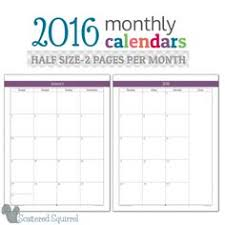printable calendar multiple months 2017 half size monthly calendar printables a5 planners and