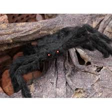 30cm black soft plush fluffy imitate spider funny tricky brains