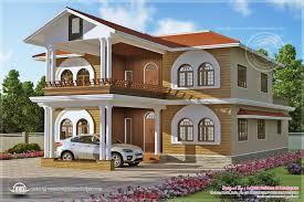 villa design luxury villa design in 3836 square feet house design plans