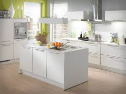 Wood Floor Decorating Ideas White Kitchen Wood Floor L Shaped White Gloss Plywood Kitchen