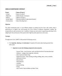 9 maintenance contract templates free sample example format