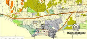 santa barbara california map santa barbara ca printable atlas vector map editable