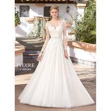 wedding dress illusion neckline embroidered tulle a line illusion neckline wedding gown free