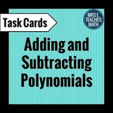 add and subtract polynomials coloring worksheet at the top