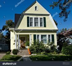 yellow house pumpkins stock photo 38438452 shutterstock
